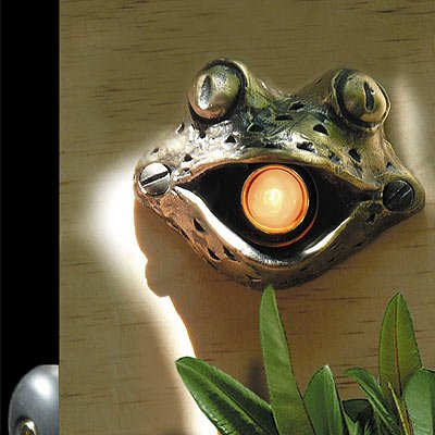 Bronze Frog Door Chime Surround with Lighted Button