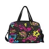 InterestPrint Watercolor Lip Duffel Bag Travel Tote Bag Handbag Luggage