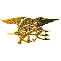 Oro US Navy SEAL USN Trident Insignia Mini Pin (1.5 pulgadas) Guerra Especial