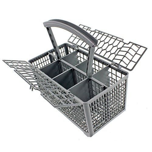 Spares2go Cutlery Basket Cage & Lid For Zanussi Dishwasher (Removable Handle, 235 X 242 130)