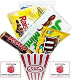 Movie Night Popcorn, Candy And Redbox Movie Gift Basket ~ Includes Movie Theater Butter Popcorn, Concession Stand Candy and a Gift Card for 2 Free Redbox Movie Rentals (Junior Mints) offers