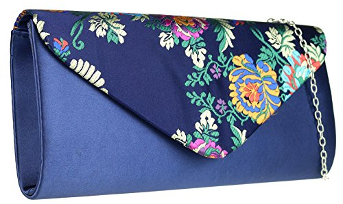 Girly Handbags - Cartera de mano de Material Sintético para mujer azul marino
