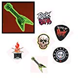 Glow-in-the-Dark Rock Star Temporary Tattoos (6 dz)