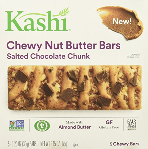 Kashi Salted Chocolate Chunk Chewy Granola Nut Butter Bars, 6.15 - Butter Salted
