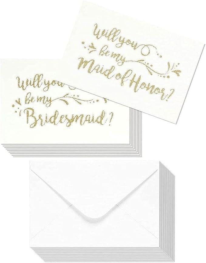 Foiled Will You Be My Bridesmaid Postcard Bridesmaid Proposal Chief Bridesmaid Card Gold Rose Gold Silver Maid of Honour Card