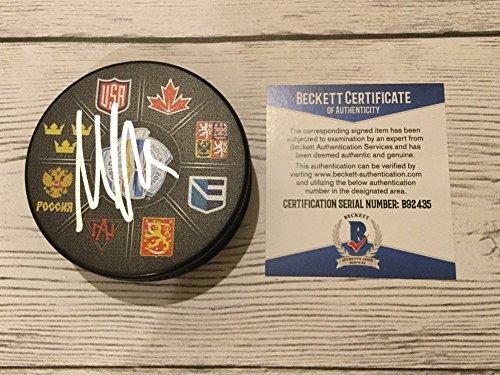 Max Pacioretty Signed 2016 World Cup Of Hockey Puck Beckett BAS COA Go Usa - Usa Usa Usa Gif