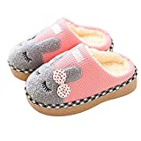 Resonda Boys Girls House Slippers Warm for Winter Indoors Shoes Cute Bedroom Slippers with Fur Lined,Pink, Toddler US 8.5-9