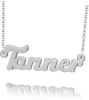 LoEnMe Jewelry Personalized Pugh Name Necklace Stainless Steel Plated Custom Made of Last Name Gift for Family
