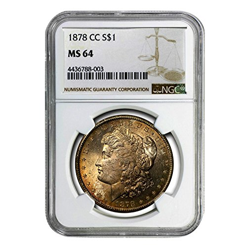 1878 CC Morgan Dollar $1 MS-64 NGC
