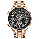 Winsummer Classic Men's Business Casual Chronograph Quartz Waterproof Wristwatch Black Stainless Steel Strap Watches (#2)