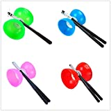 """Kalevel 4.7"""" Large Chinese Yoyo Diabolo Rubber Pro Chinese Yoyo Diabolo Triple Bearing with Chinese Yoyo Sticks String Juggling Spinning for Kids Adult Exercises Fitness Gym Equipment Educational Toys"""