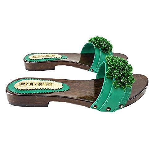 kiara Mules 12536 Vert Verde shoes Basse ZO4PwqCS