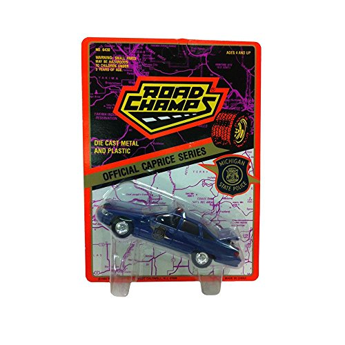 Road Champs Diecast Official Caprice Series 1:43 Scale Michigan State Police Blue Car (Caprice Police Car)