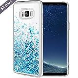 Galaxy S8 Plus Case, Caka Galaxy S8 Plus Glitter Case Luxury Fashion Bling Flowing Liquid Floating Sparkle Glitter Soft TPU Case for Samsung Galaxy S8 Plus (Blue)