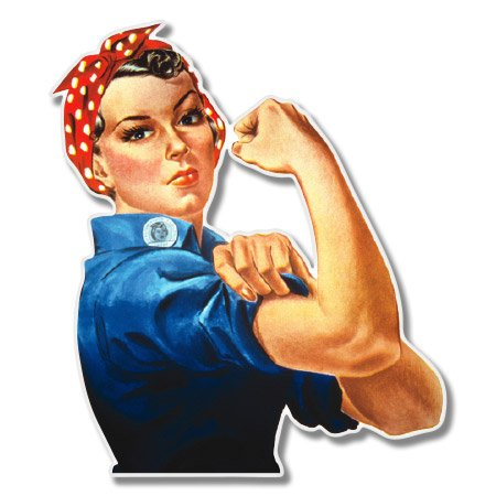 Rosie the Riveter Vinyl Sticker - Car Phone Helmet - SELECT SIZE