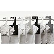 Baby Closet Dividers - Monochrome | Baby Clothes Organizers | Pack of 7 Hangers