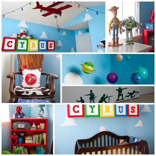 Cloud Stencil Set for Wall Decor: Reusable Stencils for a Kid's Toy Story Room or Andy's Room Nursery, 2-Pack Includes 1 Large and 1 Small Cloud Stencil by Living Lullaby Designs (Image #2)