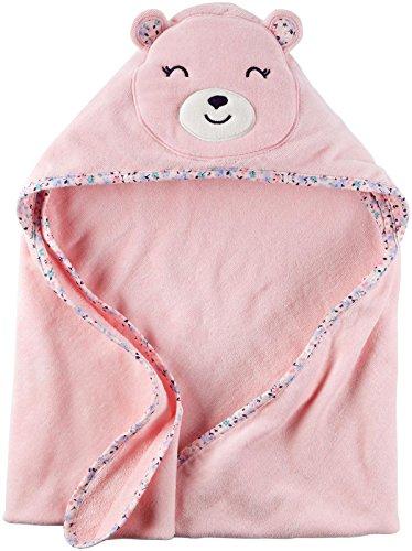Frog Character Hooded Towel - Carter's Hooded Bath Towel - Little Bear - Pink