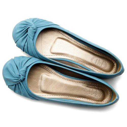 best Ollio Women's Ballet Shoe Comfort Cute Multi color Flat