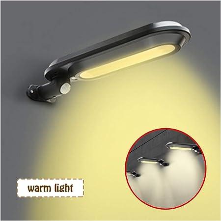 Luz Solar Exterior, Foco Solar Exterior con Sensor De Movimiento Luces Solares JardíN 150ºDe IluminacióN LáMpara Solar Impermeable,Girar 180 °(Negro),Warmlight: Amazon.es: Hogar