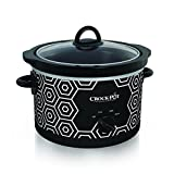 Crockpot SCR450-HX Round Slow Cooker, 4.5 quart, Black & White Pattern