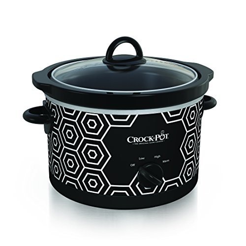 Crockpot Round Slow Cooker 45 quart Black amp White Pattern SCR450HX
