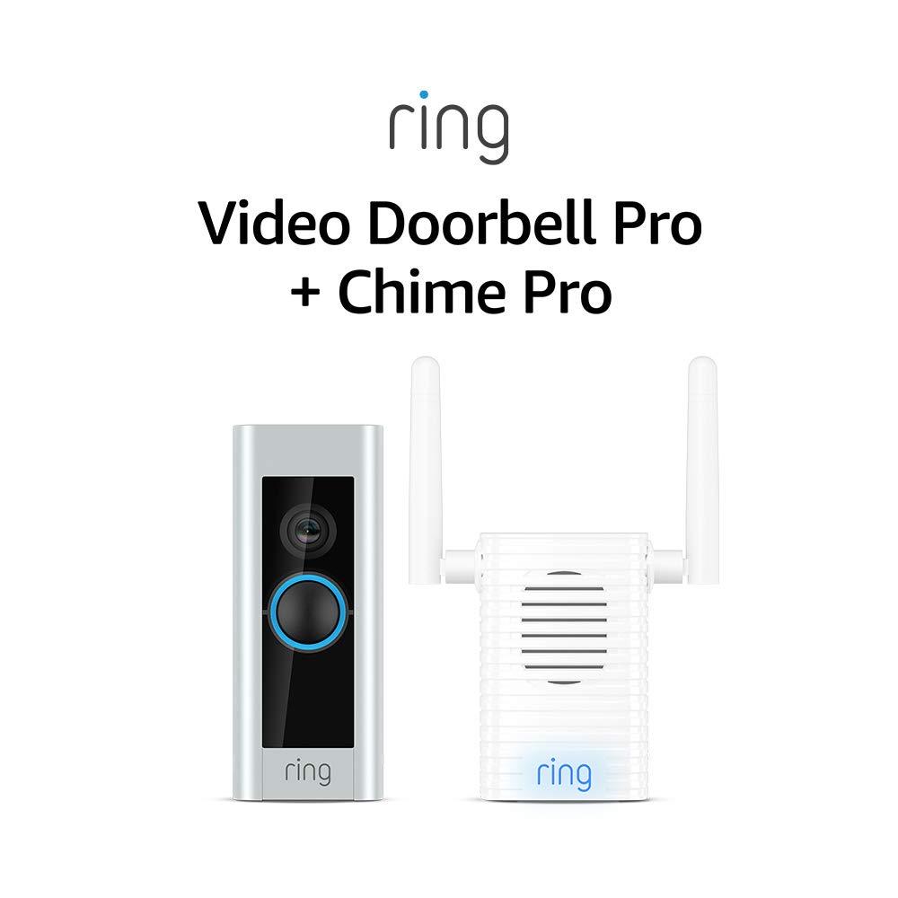 Certified Refurbished Ring Video Doorbell Pro with Certified Refurbished Ring Chime Pro (1st Gen)