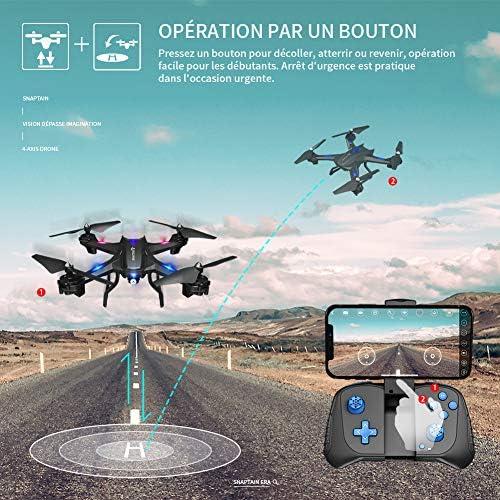 SNAPTAIN S5C Drone avec Caméra 720P WiFi FPV Télécommande WiFi APP, avec Contrôle Gestuel,Vol de Trajectoire, 360°Flips pour Les Débutants et Les Enfants