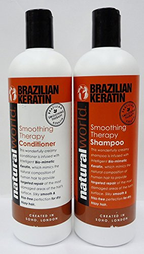 Natural World Brazilian Keratin Smoothing Therapy Shampoo Conditioner Deal 500ml Buy Online In Albania Natural World Products In Albania See Prices Reviews And Free Delivery Over 7 500 Lek Desertcart