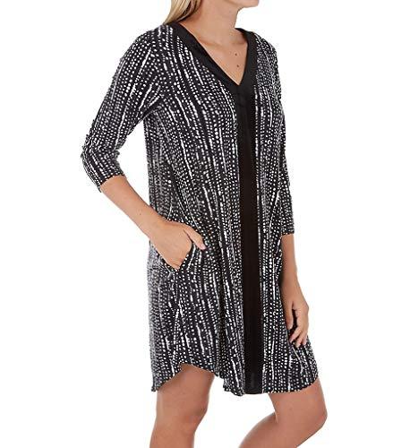 Donna Karan Sleepwear Hint of Velvet Sleepshirt (D236943) M/Black Print