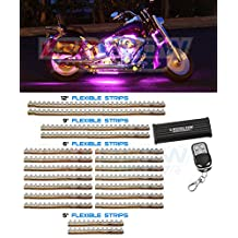 LEDGlow 20 Piece 342 LED Pink Motorcycle Lighting Kit