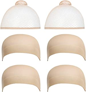 Dreamlover Nude Wig Caps for Wigs, 6 Pack