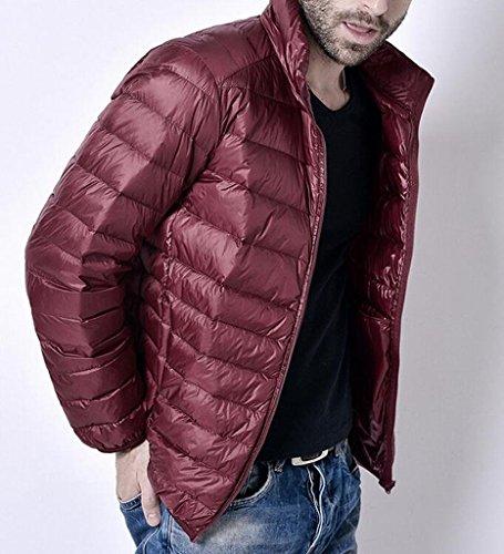 Packable Rossa Vino Fit Mk988 Giù Collare Mens Basamento Del Slim Puffer Caldo Giacca n07nOqYv