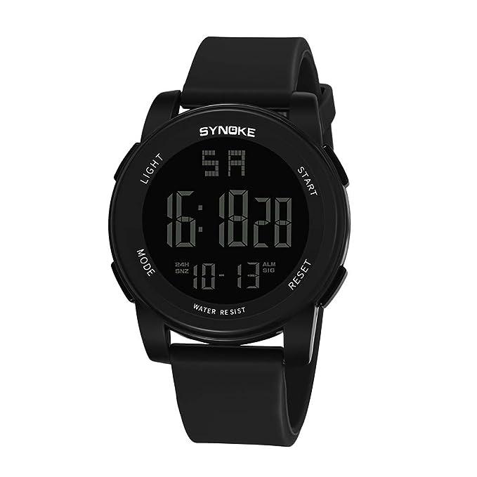MISSWongg_Reloj Reloj Inteligente para Deporte, Deportivo LED multifunción Digital LED Actividad Inteligente Pantalla Color Impermeable Ligero Reloj Correa ...