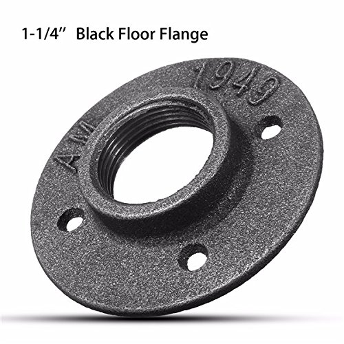 Hitommy 1-1/4 Inch DN32 Malleable Threaded Floor Flange Steel Iron Pipe Fitting Wall Mount