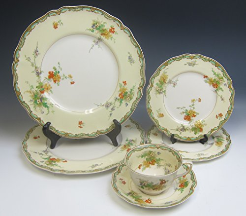 Lot of 6 Johnson Brothers/Old Staffordshire NINGPO Dinner Plates Cup & Saucer - Cup Staffordshire Saucer