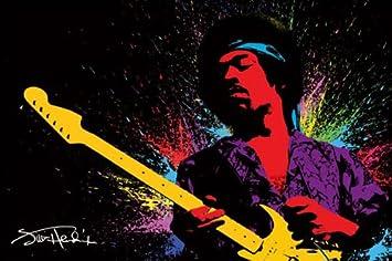 Jimi Hendrix posters - Jimi Hendrix Psychedelic poster PP30940 ...