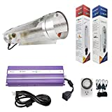 Hydroplanet™ 1000w Air Cooled Tube Hood Set Horticulture Hydroponic 1000W 600W 400W Watt Grow Light Digital Dimmable ballast System for Plants (1000W) … For Sale