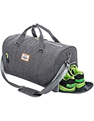 Duffle Bag Sports Gym Travel Luggage Including Shoes Compartment