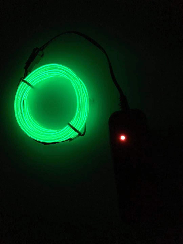 SOUTHSKY Luminoso Azul EL Alambre con Controlador Box Impermeable LED Luces de Neon Navidad Decoraciones de Interior//al Aire Libre Rojo, 5M