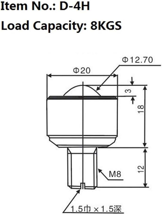 BAIJIAXIUSHANG-TIES Precision Ball Casters 2PCS D-2H//3H//4H//5H//6H//8H Precision Ball Transfer Unit Machined Ball Caster Roller Transfer Unit Conveyor Ball Roller Size : D 3H