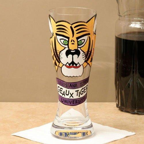 (NCAA LSU Tigers Hand Painted-22oz. Pilsner Glass)