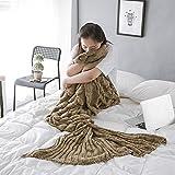 Mermaid Tail Blanket, Fans Mermaid Crochet Blanket