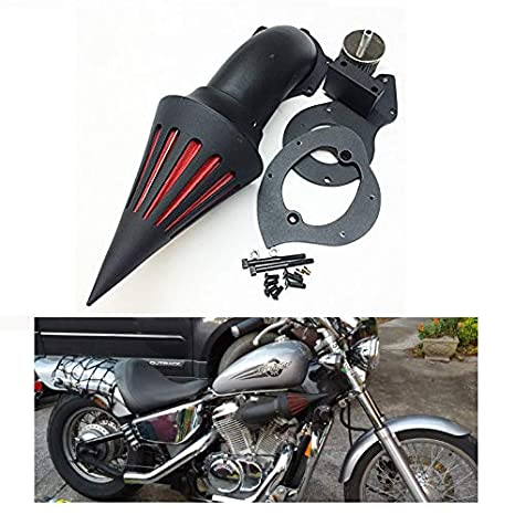 HTTMT MT225-006-BLACK Spike Air Cleaner Kits Filter Compatible with Honda  Shadow 600 Vlx600 1999-2012 Black