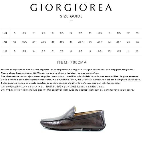 Marron Hombre Cuero Brogue A Hombre Italia Zapatos Elegante Para Mocasines Mano Zapatos Shoes Oxfords Marron Giorgio Real Hecho Car Richelieu EN Rea qfZwtTx1