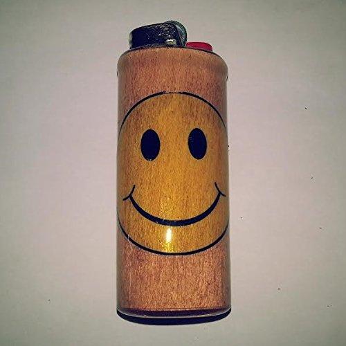 Smiley Face BIC Lighter Case Holder Sleeve Cover