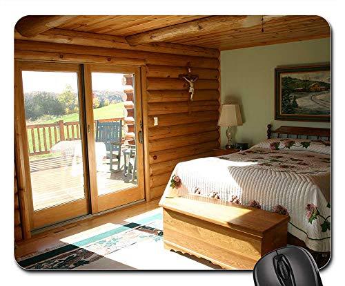 Mouse Pads - Master Bedroom Bed Logs Cabin Log Home Bedroom -