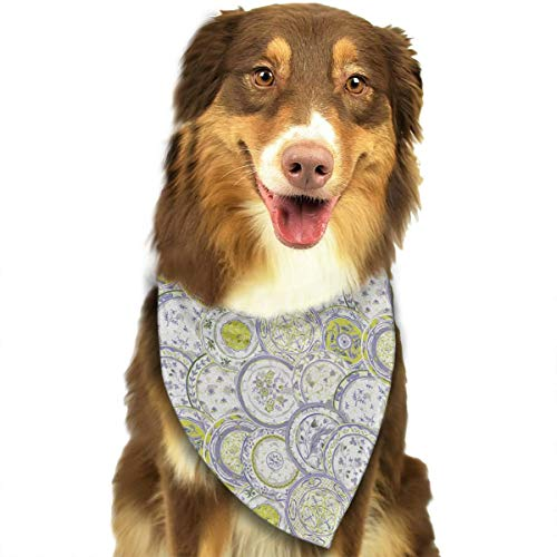 OURFASHION Inspirations Bandana Triangle Bibs Scarfs Accessories for Pet Cats and Puppies.Size is About 27.6x11.8 Inches -
