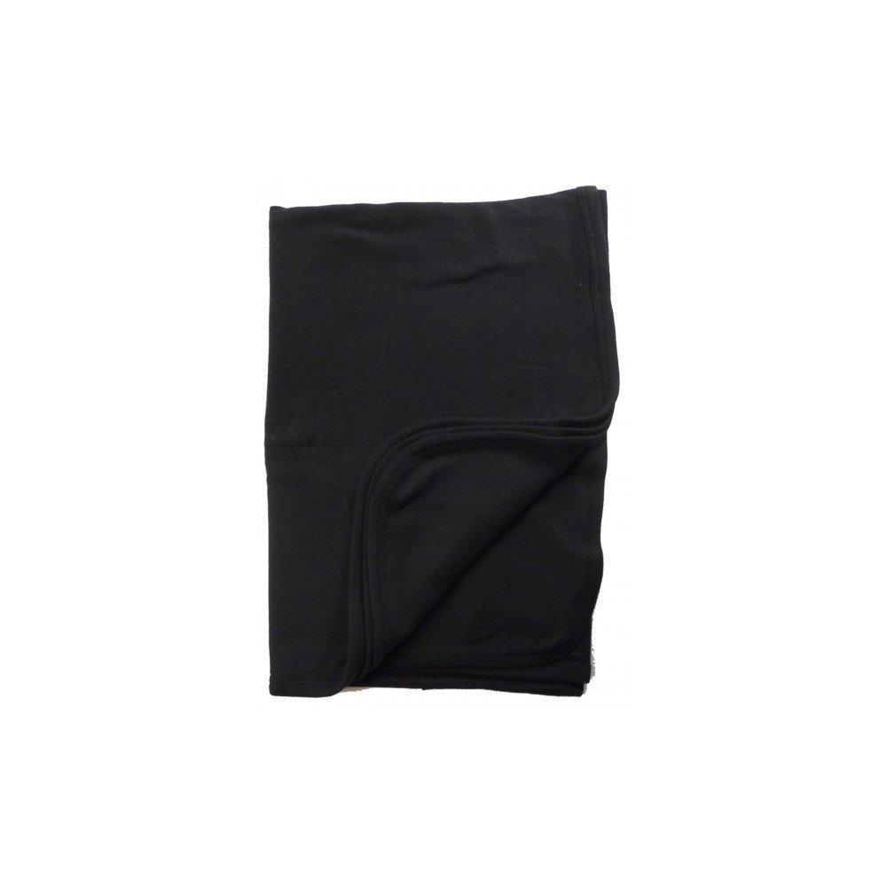 Bambini Baby Boys Girls Unisex 30'' x 40'' Receiving Blanket, Black, 30'' x 40''