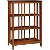 Furniture of America Lester 3 Shelf Bookcase in Oak